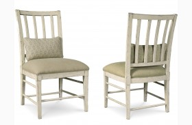 Echo Park Aged Canvas Slat Back Side Chair Set of 2