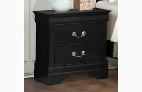 Mayville Burnished Black Nightstand
