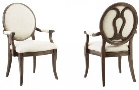 St. Germain Oval Back Arm Chair Set of 2