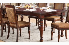 Cumberland Rich Medium Brown Extendable Dining Table
