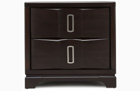 Brooke 2 Drawer Wood Top Nightstand