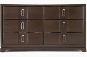 Brooke 6 Drawer Wood Top Dresser