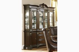 Orleans Dark Cherry Buffet & Hutch