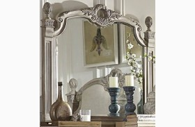 Orleans II White Wash Mirror