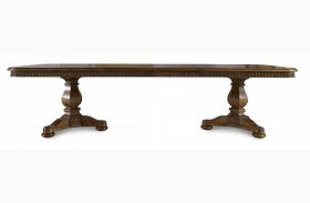 Collection One Harvest Burnished Pine Rectangular Dining Table