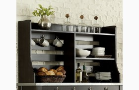 Keaton II Charcoal Server Hutch