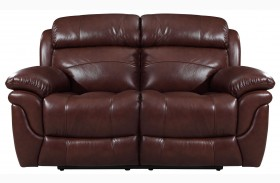Edinburgh Brown Reclining Loveseat