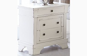 Derby Run White Sand Nightstand