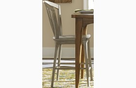 Candler Gray Windsor Counter Chair Set of 2