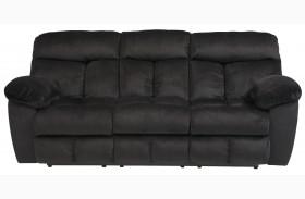 Saul Black Power Reclining Sofa