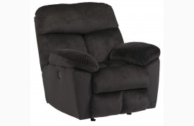 Saul Black Rocker Recliner