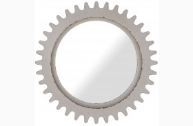 Epicenters Williamsburg Paint White Round Mirror