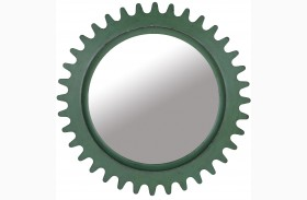 Epicenters Williamsburg Paint Green Round Mirror