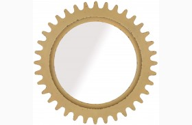 Epicenters Williamsburg Paint Yellow Round Mirror
