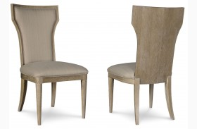 Greenpoint Sandstone Upholstered Back Arm Chair Set of 2