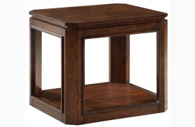 Avion Golden Mid-Brown Stain End Table