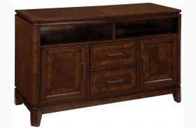 "Avion Golden Mid-Brown Stain 50"" TV Console"
