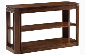 Avion Golden Mid-Brown Stain Sofa Table
