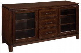 "Avion Golden Mid-Brown Stain 60"" TV Console"