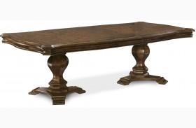 La Viera Double Pedestal Extendable Dining Table