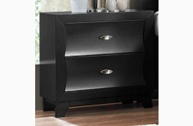 Zandra Black Nightstand