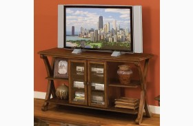 Madrid Golden Brown Cherry Entertainment Console