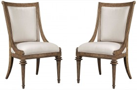 Pavilion Upholstered Back Sling Chair Set of 2