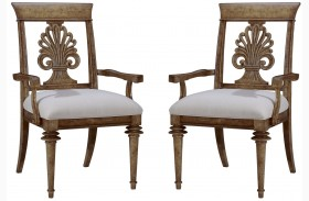 Pavilion Wood Back Arm Chair Set of 2