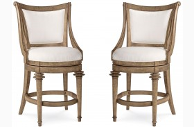 Pavilion Upholstered Back High Dining Chair Set of 2