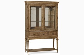 Pavilion Rustic Pine 3 Drawer Bar Cabinet