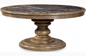 Pavilion Rustic Pine Round Cocktail Table