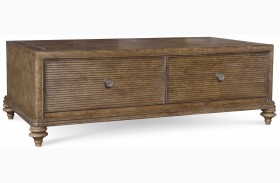 Pavilion Rustic Pine Storage Cocktail Table