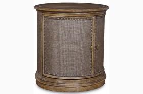 Pavilion Rustic Pine Drum Table