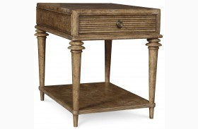 Pavilion Rustic Pine 1 Drawer End Table