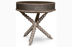 Pavilion Bisque Round Accent Table