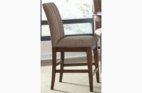 Mirage Cinnamon Upholstered Counter Chair Set of 2