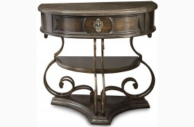 Continental Vintage Melange Glazed Nightstand