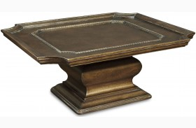 Continental Crackle Bronze Square Cocktail Table
