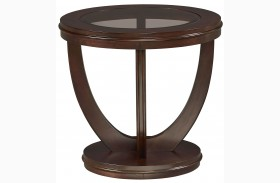 La Jolla Dark Merlot Round End Table