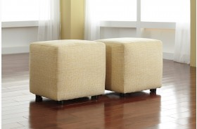Chamberly Alloy Cube Ottoman Set of 2