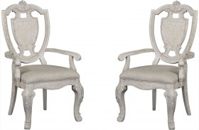 Renaissance Shield Back Arm Chair Set of 2
