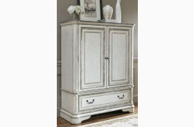 Magnolia Manor Antique White Door Chest