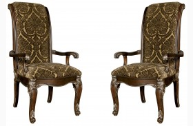 Gables Upholstered Back Arm Chair Set of 2