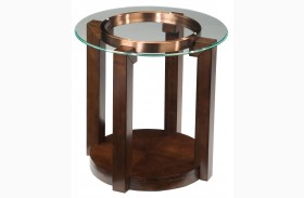 Coronado Dark Chocolate Round End Table