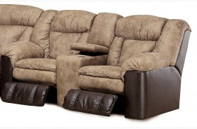 Talon Sahara Sand Double Reclining Console Loveseat