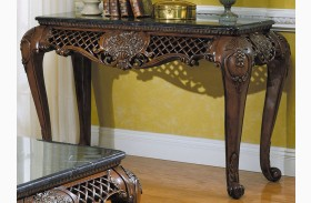 Gladstone Sofa Table with Marble Top
