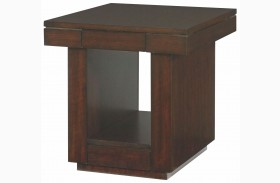 Uptown Mocha Drawer End Table
