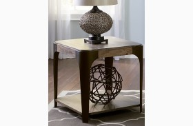 Sapphire Lakes Bark Rectangular End Table