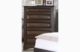 Knollwood Dark Cognac 5 Drawer Chest