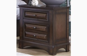 Knollwood Dark Cognac 2 Drawer Nightstand